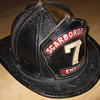 leather fireman hat