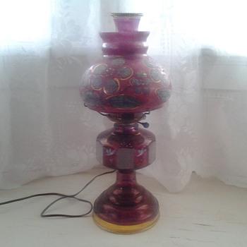 cranberry electrified kerosene lamp - Lamps