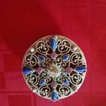 Vintage metal trinket box marked Florenza - 1960's