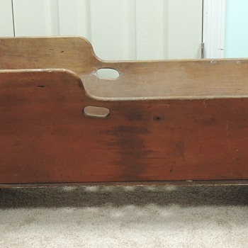 Cradle Made of Maple and Oak - American mid-late 1800's