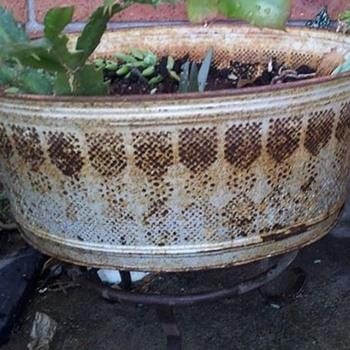 Pierced metal tub