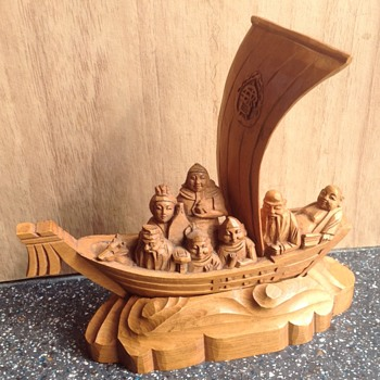Unusual small wood carving - Folk Art