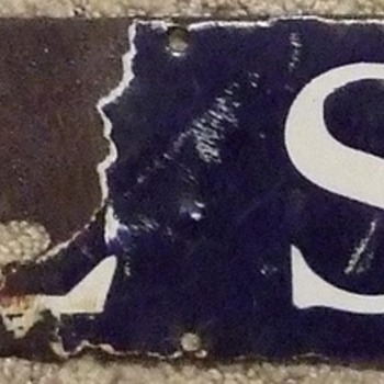 Early 1900's(?) Wool Soap Porcelain Sign