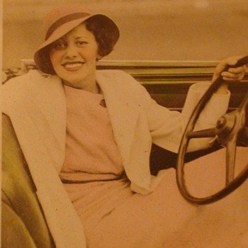 Mysterious Driving Dame; L. Bamberger & Co Photo Newark, New Jersey - Photographs