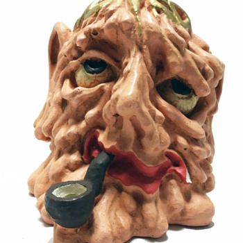 "Robert R Crumb Stoned Again Pipe Early 1970's Head Shop ""Novelty"" - Tobacciana"