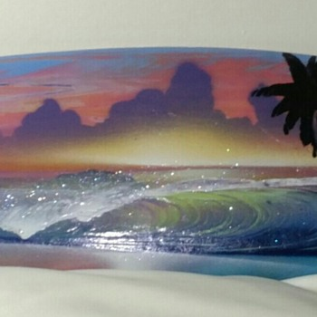 Mini Surf Board Painting - Fine Art
