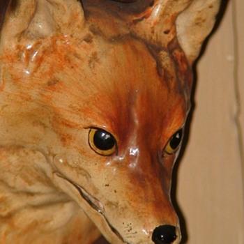 Vintage Fox Head Metal Wall Plaque - Animals