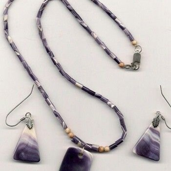 Native American Wampum (Quahog Shell) Necklace, Made By Elizabeth James Perry - Fine Jewelry