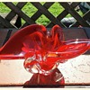 Art Glass-I love this orange red color.