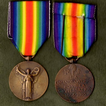 The WWI Victory Medal Series – France - Military and Wartime