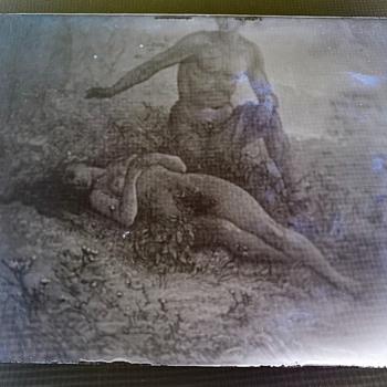 Mysterious Antique Glass Photo Negative  - Photographs