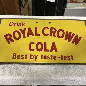 Royal Crown Cola cooler lid  - Signs