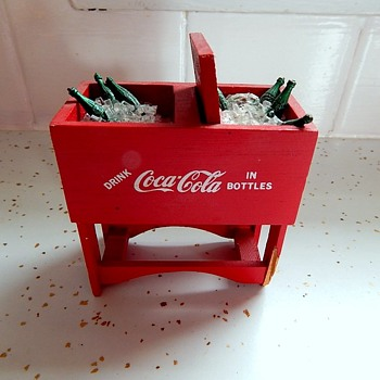 Miniature Coke cooler with bottles and ice! - Coca-Cola