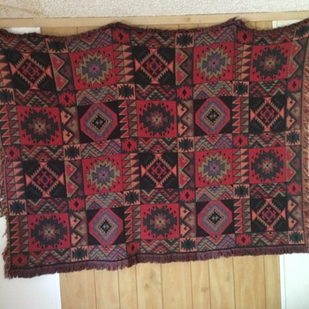 Native American Pattern Rug, unknown time or place or origin - Rugs and Textiles