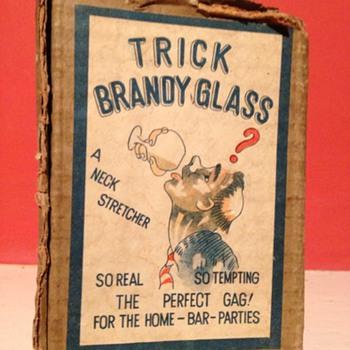 A old brandy (trick) glass - Glassware