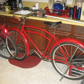 1938 all american  pre war ww2 i think  very very cool and its red - Sporting Goods