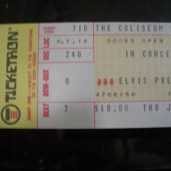 Elvis Ticket Stub 1975 - Music Memorabilia