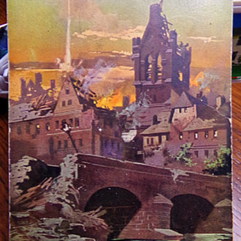 German WW1 Bombing Postcard - Postcards