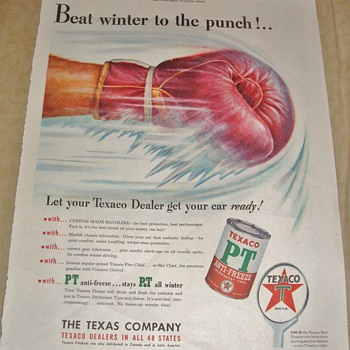 "Texaco ""Beat winter to the punch!..."" Magazine Ad"