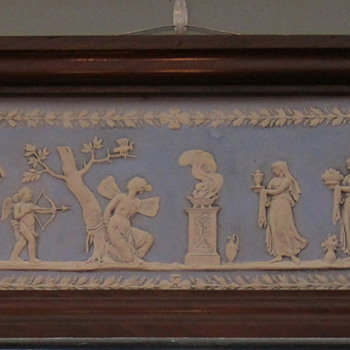 Framed Wedgwood Light Blue & White Jasperware Plaque