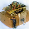 Gescha panzer tank, pre WWII Germany. Tin wind up.
