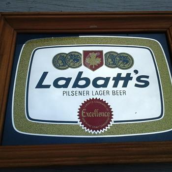 Labatt's Bar Mirror  - Advertising