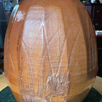 Large Japanese Studio Pottery Vase - Asian