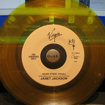 Janet Jackson 45rpm on Clear Yellow vinyl - Records