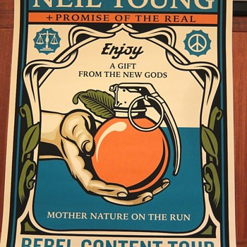 Neil Young screenprint by Shepard Fairey - Music Memorabilia