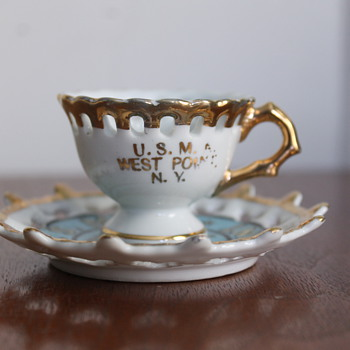 USMA West Point Cup and Saucer - Military and Wartime