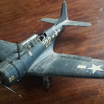 Vintage WW2 built model - Sbd Dauntless? - Military and Wartime