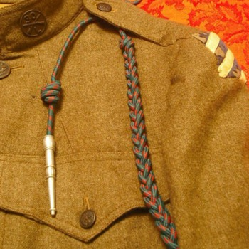Dad's French Fourragère and a later American Issue - Military and Wartime