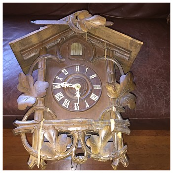 Antique Cuckoo Clock  - Clocks