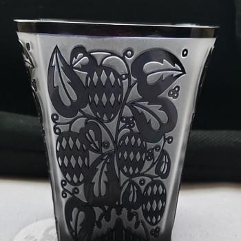 Cameo Glass Vase (Josef Hoffman?) - Art Glass