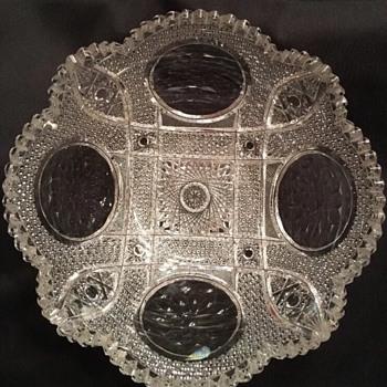 Cut Glass Hobstar Bowl - Glassware