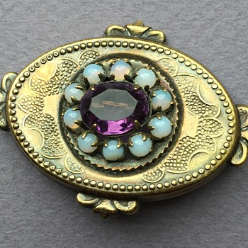 Edwardian 10K Brooch with Stones - Fine Jewelry