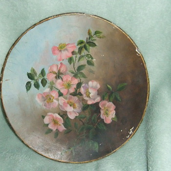 Painted Plate-1894 - Arts and Crafts