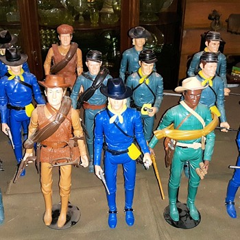 "Marx 12"" Cavalry Figures From the Johnny West Series - Toys"