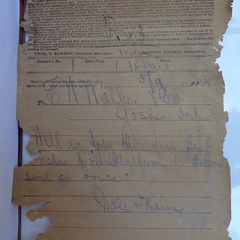 1888 Telegram - Paper