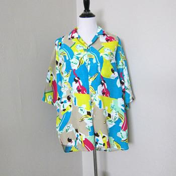 1980s Benetton Shirt  - Mens Clothing