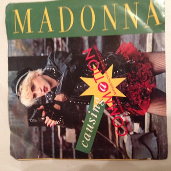 Madonna 45 Record Commotion from Soundtrack of Who's That Girl Art Cover - Records