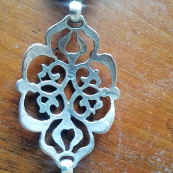 Silver (?) chain belt - Costume Jewelry