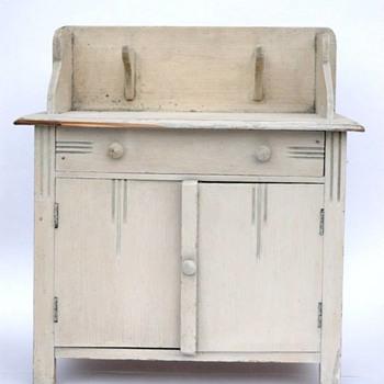 meuble de toilette - bois peint vers 1920 - Art Deco
