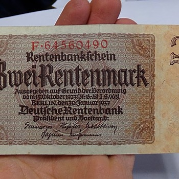 Zwei Rentenmark from Nazi Germany - World Coins