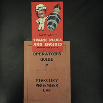 Operator's guide for a Mercury passenger car.