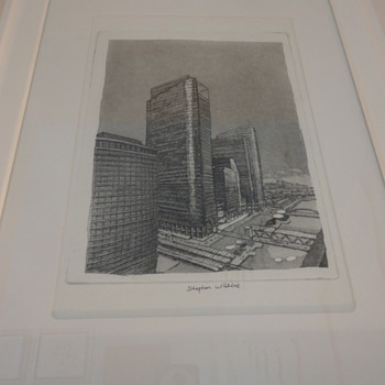 Stephen wiltshire - Etching of Canary Wharf