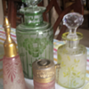 Cameo glass perfume bottles