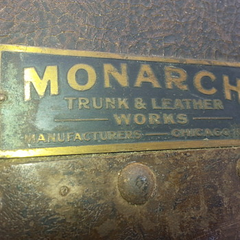 1900 Indestructo Steamer Trunk by Monarch - Furniture