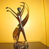 RARE ART DECO  FRANZ HAGENAUER RIBBON DANCER