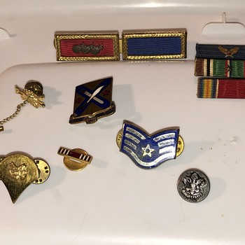 Old collection  - Medals Pins and Badges